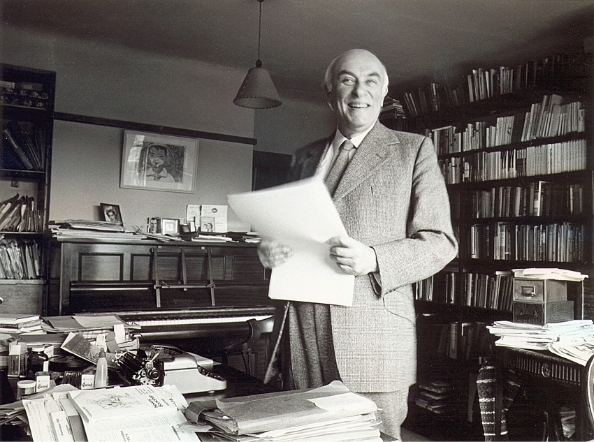 Alan Bush in his study at Radlett